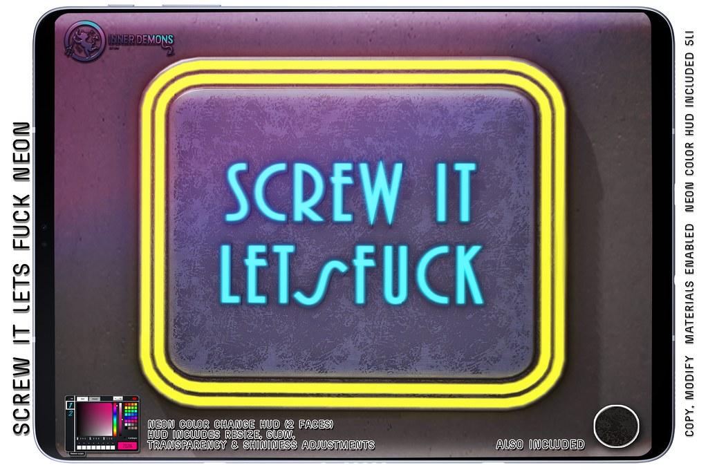 {ID} Screw It Lets Fuck Neon @ Forbidden Fridays