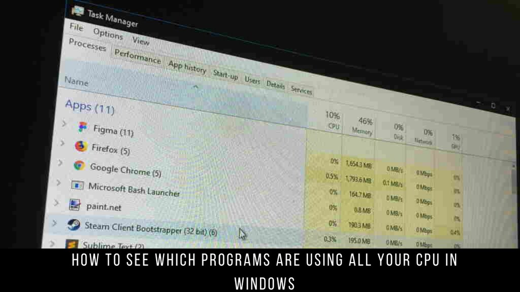 How to see which programs are using all your CPU in Windows