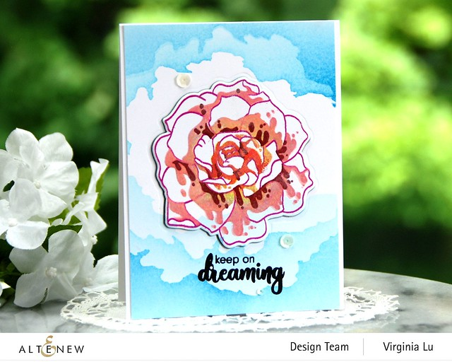 Altenew-Amazing Things Stamp Set-CloudSceneStencil#2