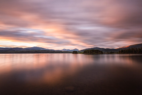 sunrise dawn daybreak clouds mountains lakedillon dillonreservoir colorado landscape summitcounty le longexposure