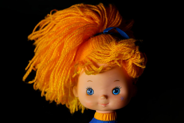 the orange hair of rainbow brite