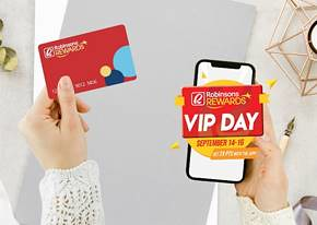 50% off,  Double Points via Robinsons Rewards Loyalty Program app  at VIP Day 2020