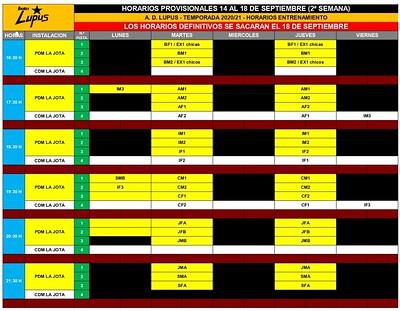 2020-21 HORARIOS ENTRENAMIENTO PROVISIONAL SEGUNDA SEMANA_page-0001