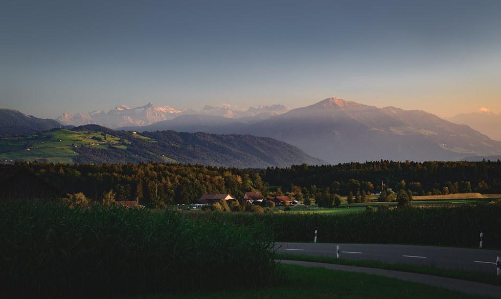 The border between Zürich and Zug