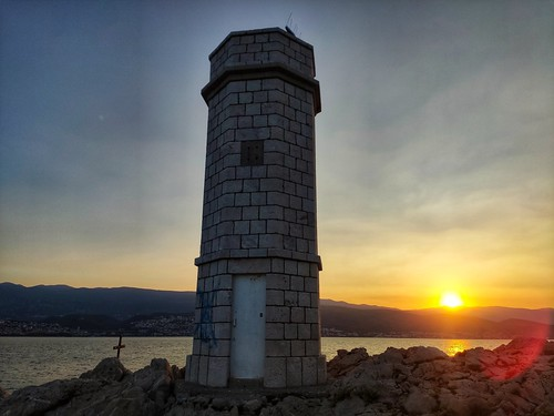sunrise lighthouse down sun coast adriatic xiaomi smartphone phone