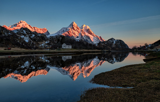 Lofoten about midnight