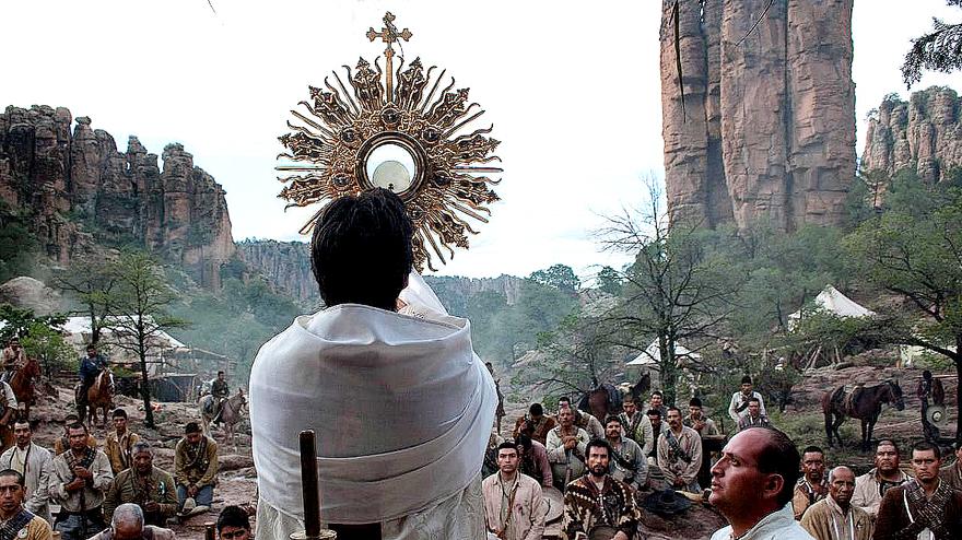 Cristeros adorando a Cristo