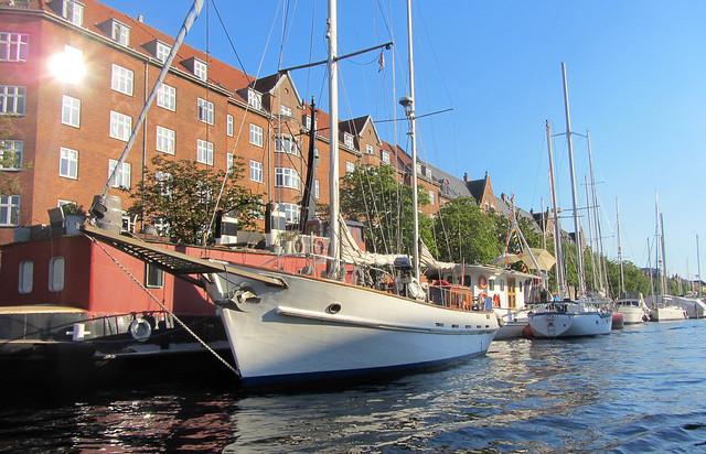 Canal in Christianshavn, Copenhagen, Denmark