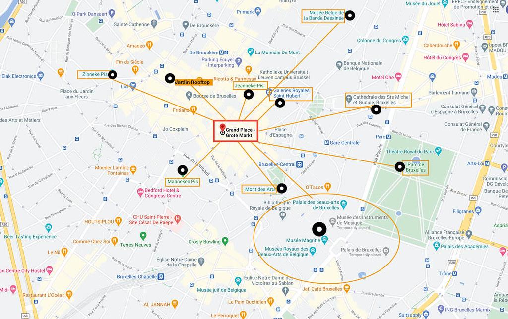Ruta de 1 kilómetro en Bruselas