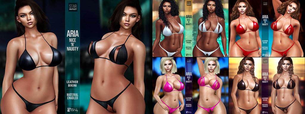 Star Outlet Aria Nice n Naughty Leather bikini
