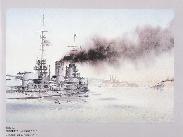 SMS 'Goeben' and SMS 'Breslau', 1914. by Ian Marshall.