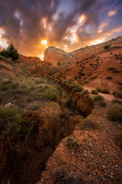 Teruel's Red Canyon at sunset
