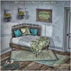 DD Upcycled Wood Corner Bed Set-PG