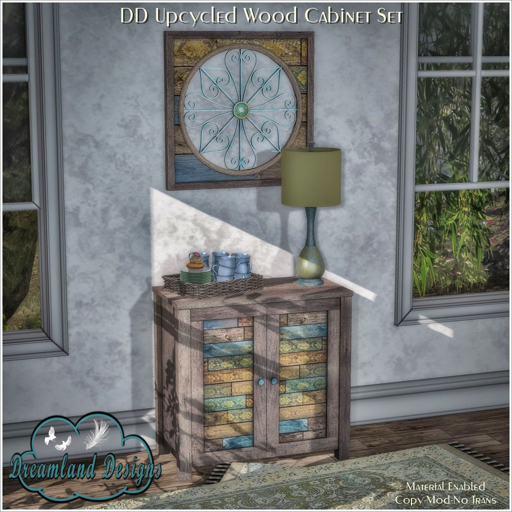 DD Upcycled Wood Cabinet Set AD