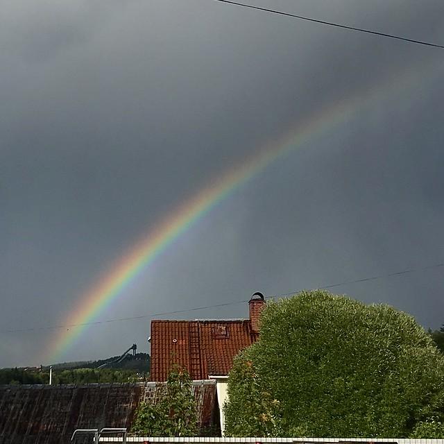 Rainbow Over Town🌈