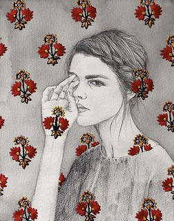 Creative Drawing With Embroidery Work