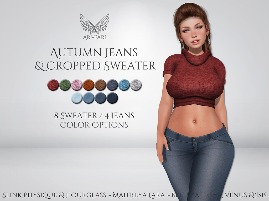[Ari-Pari] Autumn Jeans and Cropped Sweater
