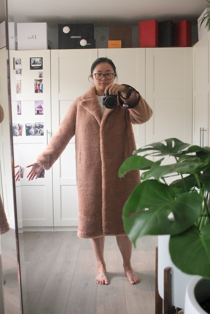 The Curated Classic Teddy Coat in Camel review