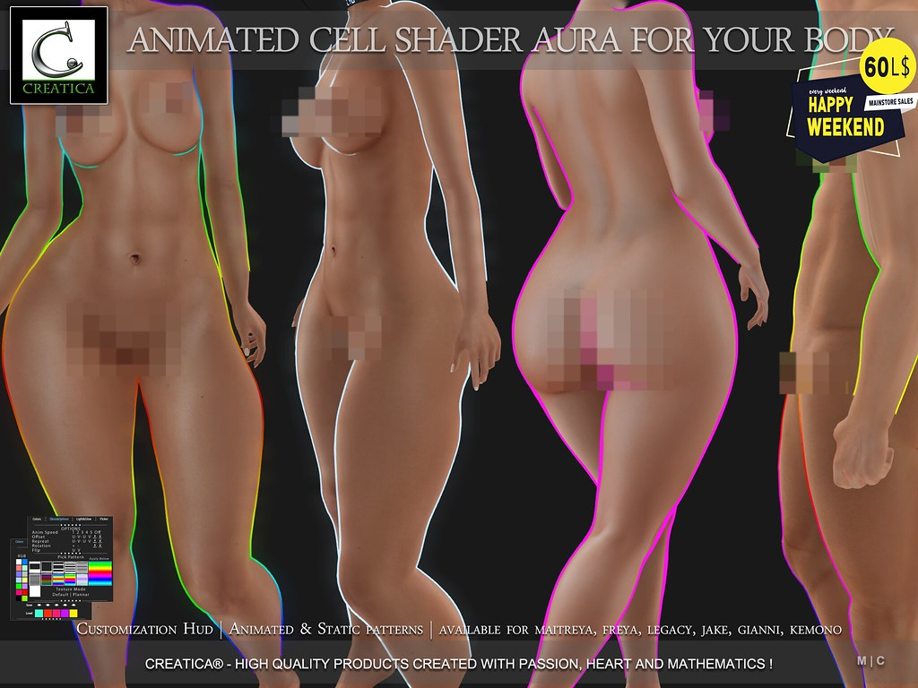 Animated Cell Shader Aura for Your Body by CREATiCA