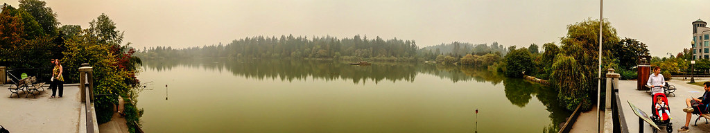 Lost Lagoon in the smoke