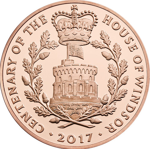 The House of Windsor £5 Coin Design