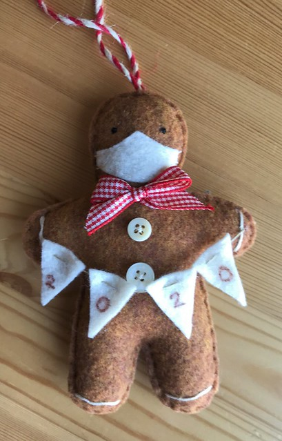 Hand Made Gingerbread Covid 2020 Ornaments