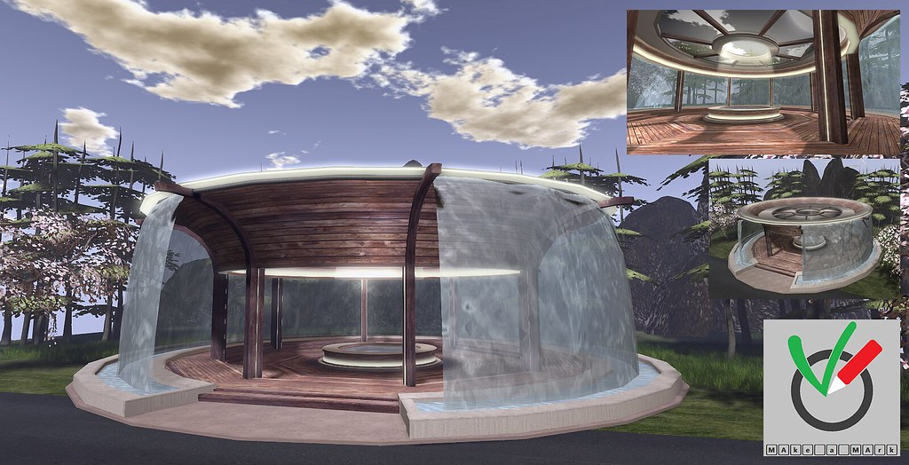 Soon available – Waterfall pavilion