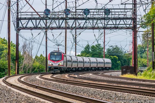Amtrak 642 on 176, Eddystone, 2020-09-11