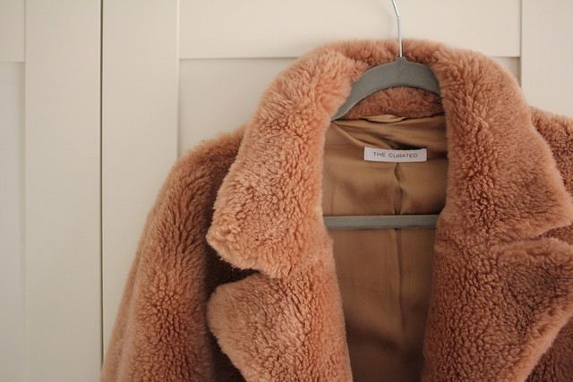 The Curated Classic Teddy Coat in Camel review, the curated coat review