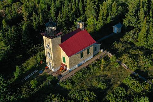 Copper Harbor Light from the air | by schwerdf