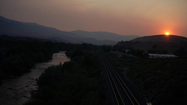 Truckee River, Sunset over Chalk Bluff