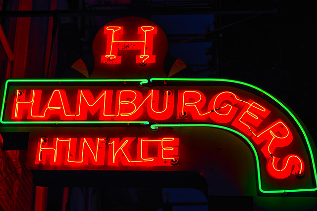 H is for Hinkle's sizzling little hamburgers