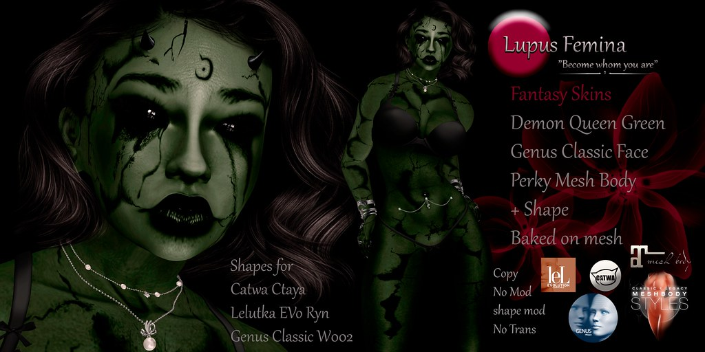 """Lupus Femina"" Demon Queen – Green"