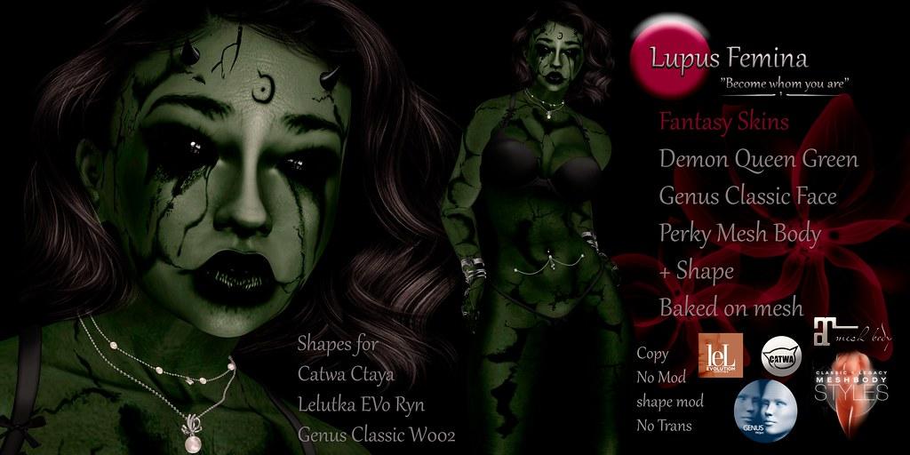 """""""Lupus Femina"""" Demon Queen – Green"""