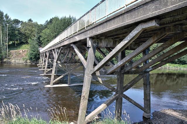 The doomed Old Tram Bridge at Preston