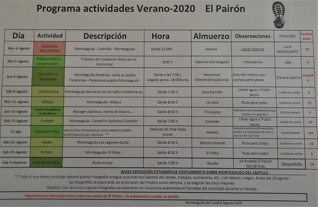 Actividades de verano 2020
