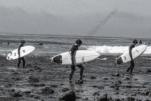 Surfers at Topanaga Beach