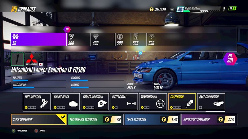 Project-CARS-3 Suspension Upgrades: Road Cars