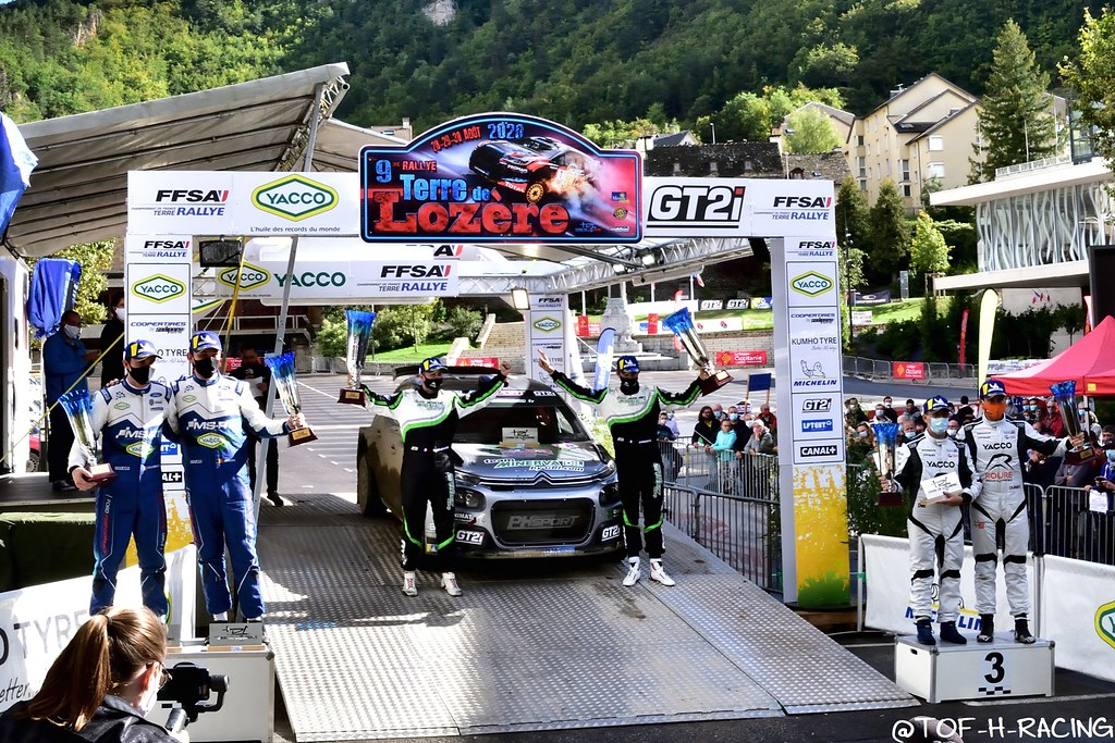 Rallye Terre de Lozère 2020 - Podium