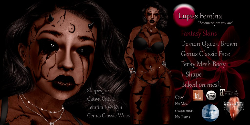 """Lupus Femina"" Demon Queen – Brown"