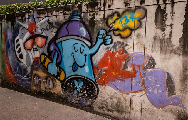 Skateboard Spray Can Graffiti