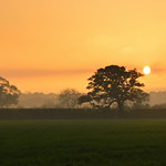 Sunset over South Ribble near Preston