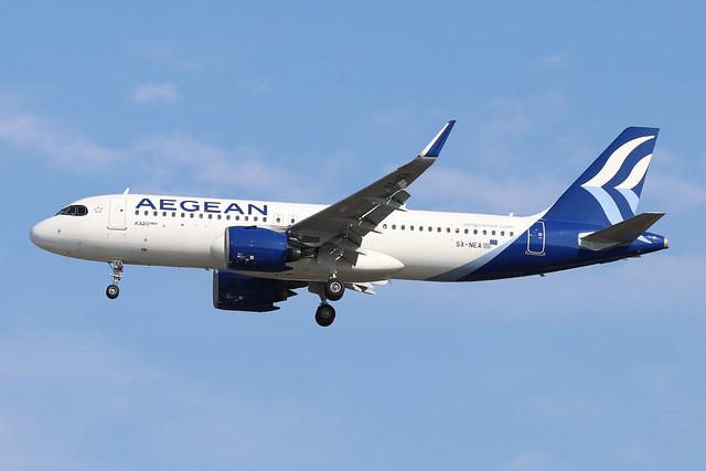 SX-NEA  -  Airbus A320-271N  -  Aegean Airlines  -  LHR/EGLL 13/9/20