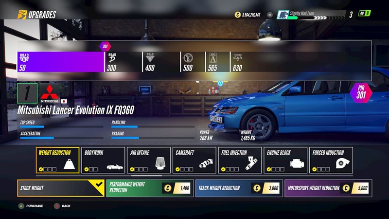 Project-CARS-3 Weight Reduction Upgrade