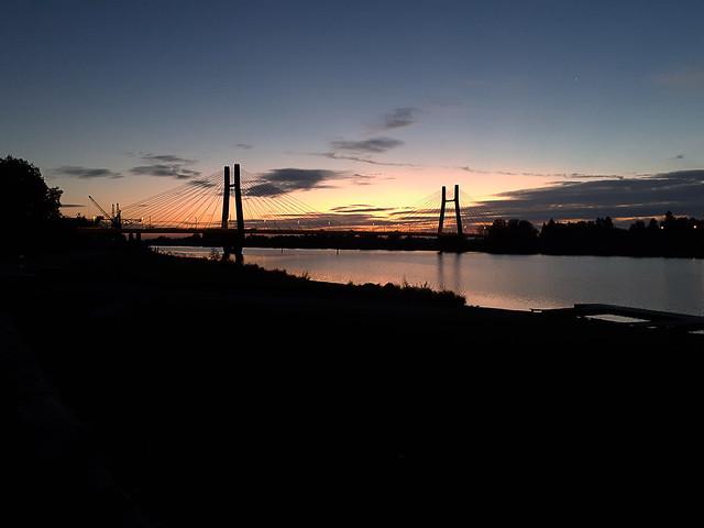 Le Pont de Bourgogne à l'aube (Chalon-sur-Saône)