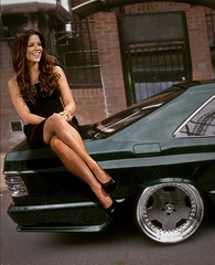 Kate Beckinsale on classic Benz