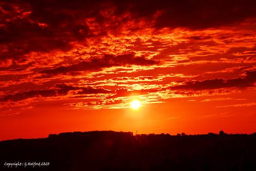 redsky clouds sunset nikon filter intense 7000 uksunset britishsunset midlands fabsunset