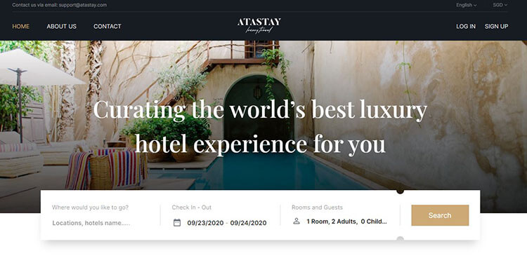 ATASTAY luxury hotel booking platform