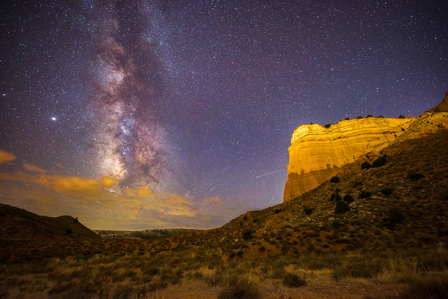 Teruel's Red Canyon at night