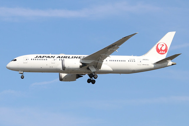 JA836J  -  Boeing 787-8 Dreamliner  -  Japan Airlines  -  LHR/EGLL 13/9/20